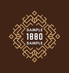Decorative Geometric Frames and Borders Light vector