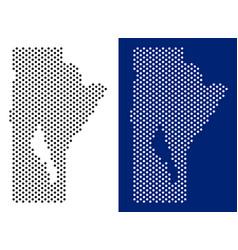 Dot manitoba province map vector