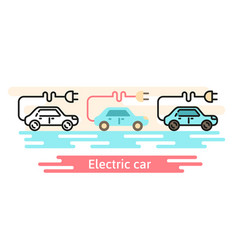 electric car icon template this vector image