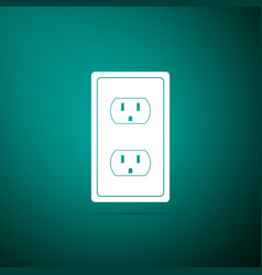electrical outlet in the usa icon power socket vector image