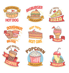 fast food list vector image