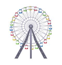 ferris big observation rotating wheel vector image