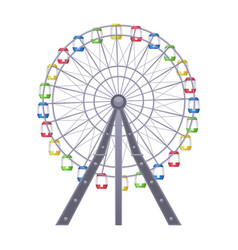 Ferris big observation rotating wheel with vector