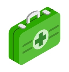 First aid kit 3d isometric icon vector image