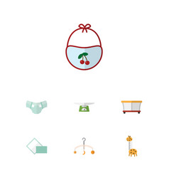 Flat icon infant set of mobile toy children vector