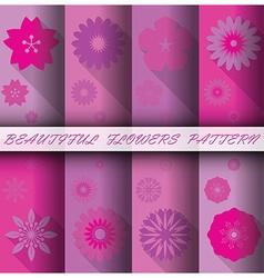 Flowers Pattern Set vector image