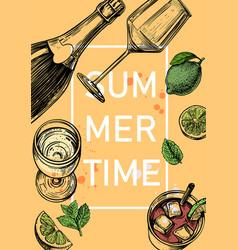 fresh cold summer drink cola vector image