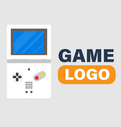 Game logo game boy icon background image vector