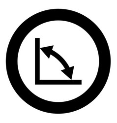 geometry math signs symbols black icon in circle vector image