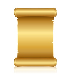 Gold shiny scroll vector