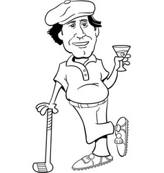 golfer leaning on a golf club vector image