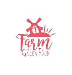 Green Farm Vintage Emblem vector