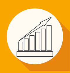 Growing graph icon vector
