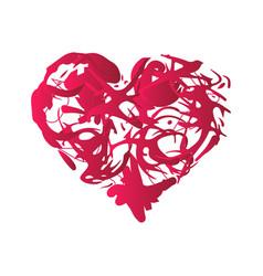 Grunge splash heart vector