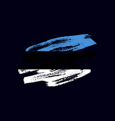 grunge textured estonian flag vector image