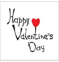 Hand sketched Happy Valentine s Day text vector image