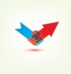 handshake arrow vector image