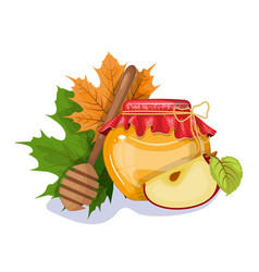 happy thanksgiving composition on white vector image