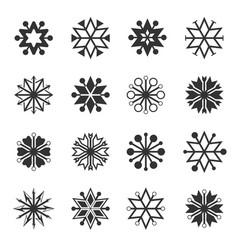 Hexagram icon set vector