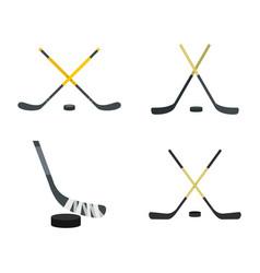 hockey stick icon set flat style vector image