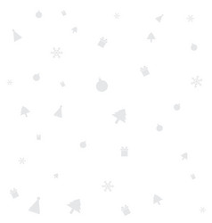 holiday and christmas pattern with christmas vector image