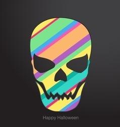 Holidays Conceptual human skull vector