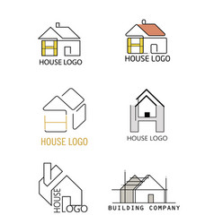 house logo in different design vector image