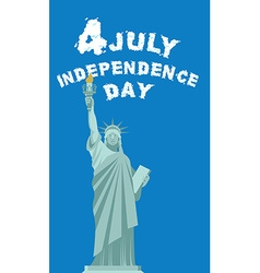 Independence Day of America Statue of Liberty vector image vector image