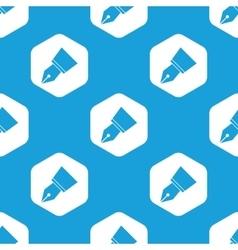 Ink pen nib hexagon pattern vector image