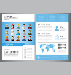 International labor day brochure design template vector