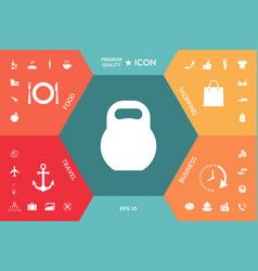 kettlebell icon symbol vector image