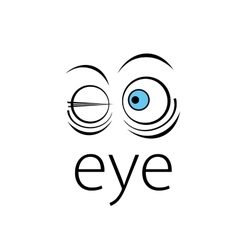 logo eye vector image