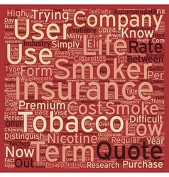 Low Cost Term Life Insurance For Smokers And vector image