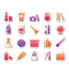 Make-up and cosmetics icons vector