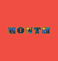Month concept word art vector