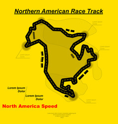 northern american track background vector image