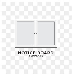 notice board graphic design template vector image