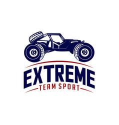 Off-road car logo design off-road extreme car vector