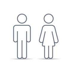 Outline couple man and woman vector