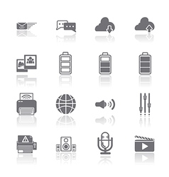 PC Mobile Interface Icon EPS10 vector
