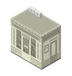 pharmacy street shop icon isometric style vector image
