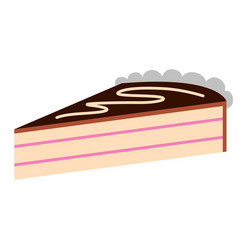 piece of birthday cake icon vector image