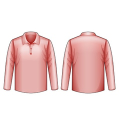 Pink shirt vector