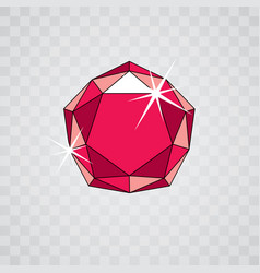precious decorative element polygonal luxury vector image