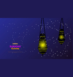 ramadan kareemconcept banner of islamic theme vector image