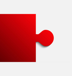 red piece puzzle jigsaw 2 step vector image