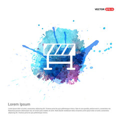 road barrier icon - watercolor background vector image