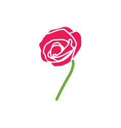 rose icon design template isolated vector image