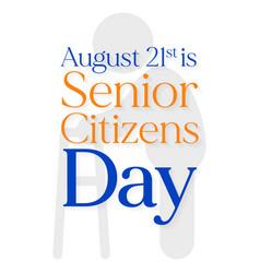 Senior citizens day vector