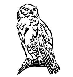 Snow owl vector